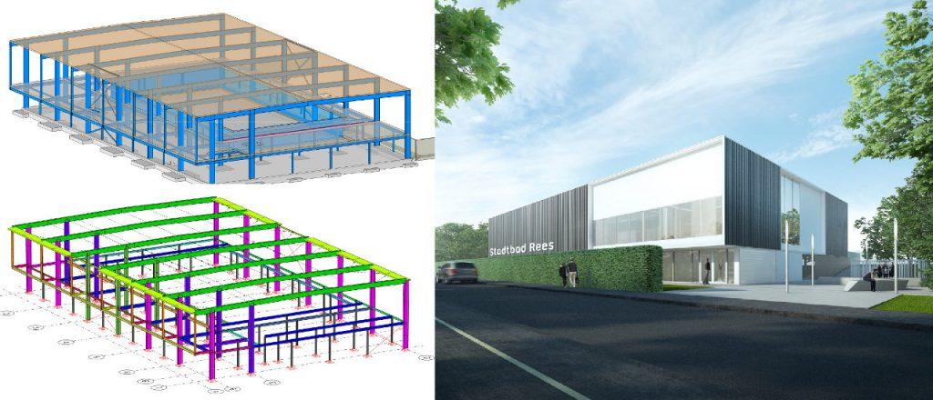 Projekt Öffentliche-Bauten-Referenz - Schwimmbad Rees